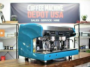 Wega Polaris  2 Group in Lagoon Blue Commercial Espresso Coffee Machine
