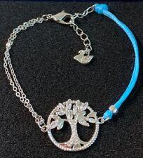 Swarovski 5521494 SYMBOLIC TREE OF LIFE BRACELET, BLUE, RHODIUM PLATED