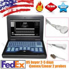 Portable Laptop Ultrasound Scanner Machine Human 2 Probes 35 Convex 75 Linear
