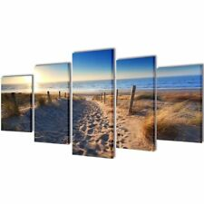 # Set of 5 Beach Canvas Print Framed Wall Art Decor Painting 200x100cm Living Ro