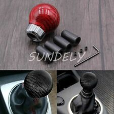 Red Carbon Fiber Universal Manual Transmission Gear Knob Ball Shifter