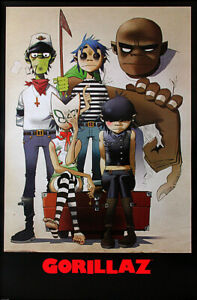 Reprint For GORILLAZ POSTER Wall Decor Art Fabric HD PRINT Multi Sizes