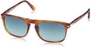 Persol Unisex PO3059S Land of Siena/Polarized Gradient Blue Sunglasses