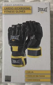 Everlast Cardio Kick Boxing Fitness Gloves MMA Training Size L/XL P00002516 New