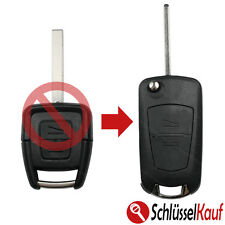 Opel Autochlüssel Umbau Kit Klappschlüssel 2 Tasten Gehäuse Rohling HU100 Neu