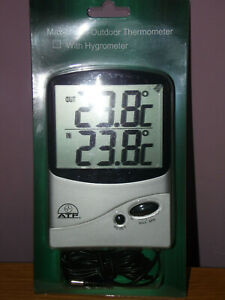 ATP Digital Indoor Outdoor Thermometer  sealed in packet FREE POST.