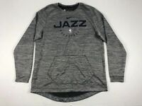 NEW Nike Utah Jazz - Men's Gray Dri-Fit Long Sleeve Shirt (Multiple Sizes)
