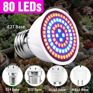 80 LED Full spectrum Plant Grow Light Lamp bulbs for Flower Growth Indoor