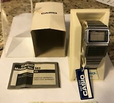 Vintage Casio DBC-600 563 Data Bank Men's Watch! COMPLETE! Case and Manual!