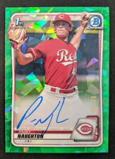 2020 1st Bowman Chrome Prospect Auto Green Atomic Refractor 2/99 PACKY NAUGHTON