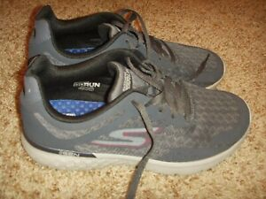 Skechers GORUN 400 DISPERSE Running Shoes Char/Red #54353 Mens Size 8