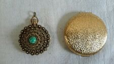 New listing Vintage Elizabeth Arden compact and Callejero perfume compact/pendant lot