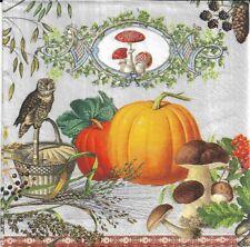 2 Serviettes en papier Citrouille Automne Moissons Paper Napkins Harvest Time