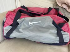 Large Nike Retro 90s Style Holdall Bag Pink Grey