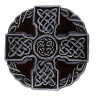 Men Round Celtic Cross Knot Braided Art Design Belt Buckle Jeans Accessories