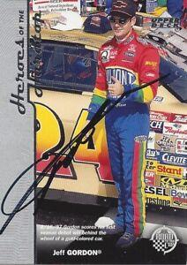 AUTOGRAPHED Jeff Gordon 1997 Upper Deck HEROES OF THE HARDTOP Signed Card COA