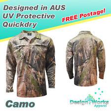 Camo UV protective quickdry hunting fishing shirt - Mens, ladies, kids, unisex.