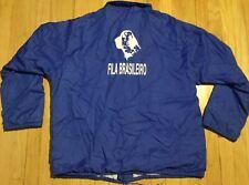 Vintage 80s Fila Brasileiro jacket Xl blue Brazilian Mastiff dog Aristo Jac