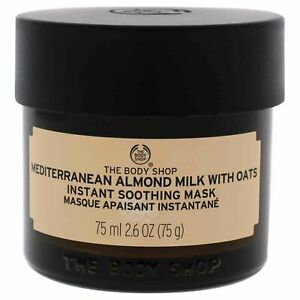 The Body Shop Mediterranean Almond Milk w/Oats Instant Soothing Mask 2.6 oz NEW