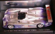 AUDI R8 TEAM VELOQX #88 2ND 24 HOURS OF LE MANS 2004 SPARK 1/18 NEW