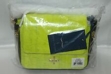 2d015df835 NEW NWT POUR LA VICTOIRE Neon Lime Green Cork Leather ALSACE Crossbody Bag