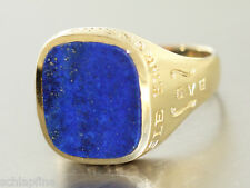 Ring Gold 585 - Ring in 14 kt Gold (585/000) mit 1 Lapislazuli, Ehrenring
