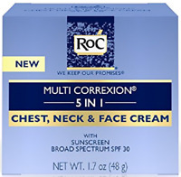 Roc Multi Corretion 5 In 1 Anti-Aging Chest, Neck & Face Cream spf 30,1.7 oz.