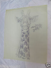 "WOOD CARVING PATTERN 17""X14"" CHIP RELIEF BURNING GIRAFFE HEAD"