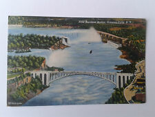 NEW RAINBOW BRIDGE Niagara Falls USA 1950's Postcard