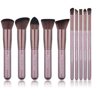 Professional 10PCS Make up Brushes Set Eyeshadow Foundation Face Powder Tools UK