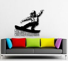 Wall Stickers Vinyl Decal Snowboarding Extreme Winter Sports (ig640)