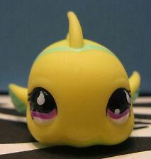 Littlest Pet Shop #519 Yellow & Lime Green Puffer Fish