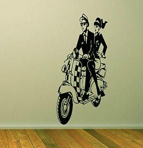 SKA SCOOTER Large Wall or Window Vinyl - Wall Art - Decal Sticker