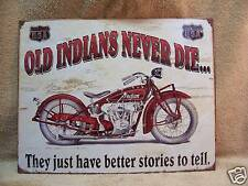Indian Motorcycle Hog Bike Tin Metal Signs  NEW Car
