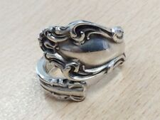 VINTAGE STERLING SILVER SPOON RING SIZE M 1950