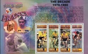 MODERN GEMS -Sierra Leone - Tour de France 100 Anniversary III - Sheet of 4 -MNH