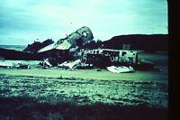 VTG 1956 35MM WHITE BORDER SLIDE KANEOHE BAY HAWAII PLANE FIGHTER JET WRECKAGE