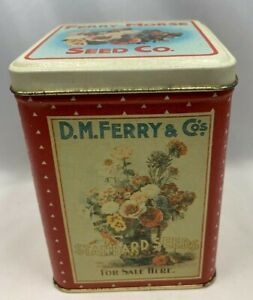 """Vintage Bristolware Ferry-Morse Seed Co. Collectible Seeds Tin 4.75"""" x 3.5"""""""