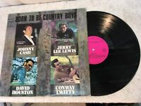 Johnny Cash Jerry Lewis David Houston Conway Twitty Born to Be Country Record Lp