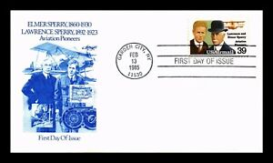 US COVER LAWRENCE AND ELMER SPERRY AVIATION PIONEERS AIRMAIL FDC SCOTT C114