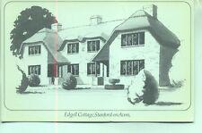 Edgell Cottage Stanford on Avon Daventry Northamptonshire unused sketch postcard