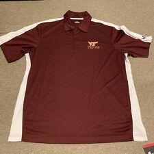 Virginia Tech Hokies Under Armour Heat Gear Polo Shirt NCAA New NWT  Mens Large