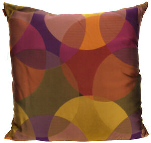 "MISSONIHOME CUSHION COVER 20% SILK CANBERRA T59 60x60cm 24x24"" CERCHI COLLECTION"