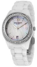 Emporio Armani AR1426 Ceramica MOP Dial White Ceramic Bracelet Women's Watch