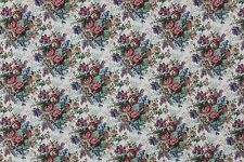 7 2/3 YARDS FLORAL TAPESTRY Upholstery Fabric Kimball Floral Rose Victorian Sofa