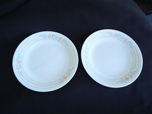 2 corelle corning ware apricot grove bread & butter plates as new