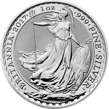 1 oz Britannia silver bullion 2017 The Royal Mint United Kingdom free shipping