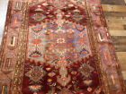 """4'2""""x7' Hand Knotted wool Tribal Authentic Vintage Geometric Oriental area rug"""