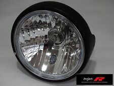 MATT BLACK crystal clear motor bike Yamaha XJ900  XJ600 SRX600 head light