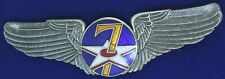 USAF 7th Air Force Military Pilot Wing Badge Pilot Wing W-3